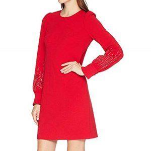 Calvin Klein Embellished Bubble Sleeve Dress.NWT!